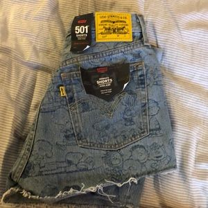 NWT Levi's 501 peanuts shorts